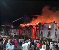 اندلاع حريق هائل بعمارتين في رأس البر