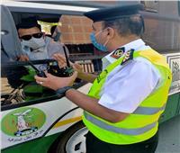 مرور المنوفية: سحب 1214 رخصة قيادة بنطاق المحافظة لعدم ارتداء الكمامات