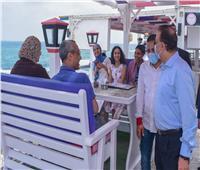 """جولة لمحافظ الإسكندرية على """"الكافيهات"""" للتأكد من تنفيذ الضوابط الإحترازية"""