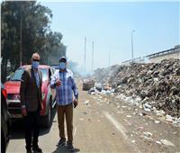 محافظ القليوبية يتفقد مقلب القمامة الوسيط بمدينة بنها