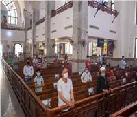 صور| أول قداس بإيبارشية البحر الأحمر عقب قرار المجمع المقدس