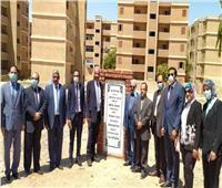 مدير التفتيش القضائي يضع حجر الأساس لمجمع النيابة الإدارية بمحافظة قنا