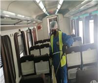 صور| هيئة السكك الحديدية تواصل مكافحة فيروس كورونا