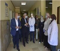 محافظ الجيزة يتفقد مستشفيات أوسيم ومبارك المركزي