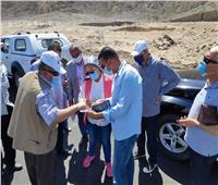 نائب محافظ جنوب سيناء تتفقد مشروعات استثماري بمدن نويبع وطابا وسانت كاترين