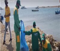فيديو| وزارة البيئة: رفع 40 طن مخلفات من البحر الأحمر