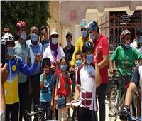 مارثون دراجات لزيادة الوعي بخطورة فيروس كورونا ببسيون