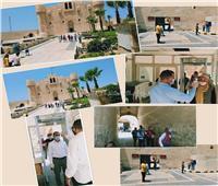 مدير آثار الإسكندرية يتفقد الإجراءات الاحترازية والوقائية بقلعة قايتباي