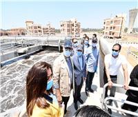 وزيرا الإسكان والتنمية المحلية ومحافظ دمياط يتفقدون مشروع توسعات محطة معالجة مياه رأس البر
