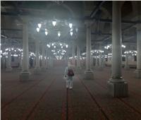انطلاق أعمال التعقيم بمسجد الحسين تمهيدًا لإعادة فتحه