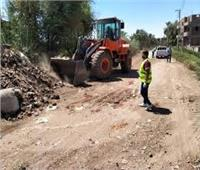رفع 120 طن مخلفات صلبة بقرية المريس في الأقصر