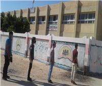 دخول طلاب الثانوية العامة لجان مدارس القاهرة الجديدة لتأدية امتحاني الفيزياء والتاريخ