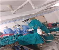 نجاح عملية جراحية لمريض بفيروس كرونا بمستشفي العزل بكفر الزيات