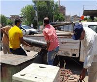 صور| إزالة ٢٢٥ مخالفة إشغال طريق خلال حملة مكبرة بكفر الدوار