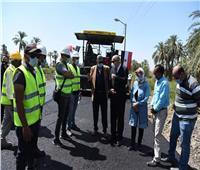 بـ47 مليون جنيه.. بدء أعمال رصف طريق «قنا – الأقصر» الزراعي الغربي