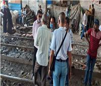 صور| إزالة التعديات على مزلقانات السكة الحديد غرب الإسكندرية
