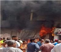 صور|بسبب ماس كهربائي.. حريق هائل بمحل أحذية غرب الإسكندرية
