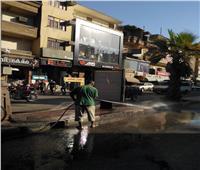 رئيس مدينة الأقصر يتابع حملة النظافة بحي شمال وجنوب