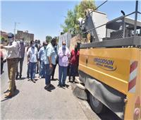 محافظ أسيوط يتفقد أعمال نظافة وكنس وشفط الأتربة على الطريق الزراعي