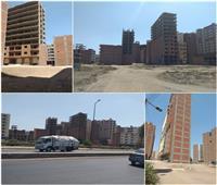 صور| عشرات الأبراج المخالفة قرب مبنى محافظة القليوبية.. و«الهجان»: القانون سيطبق بحسم