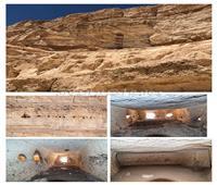 «الآثار» تعلن نتائج فريق المسح الأثري بمنطقة الهضبة غرب أبیدوس | صور