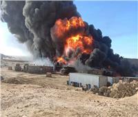 السيطرة على حريق خط بترول طريق «القاهرة - الإسماعيلية»