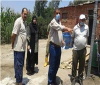 ضبط مصنع غير مرخص لمنتجات الألبان بمركز قويسنا وحملات لرفع الإشغالات في الشهداء