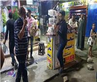 حملات على المقاهي والمحلات باحياء الاسكندرية للتأكد من اتباعها الإجراءات الاحترازية