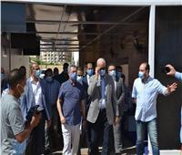 رئيس جامعة الإسكندرية يتفقد وحدة تحاليل كورونا