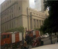 الدفع بـ 3 عربات إطفاء للسيطرة على حريق دار الكتب والوثائق القومية