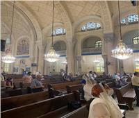 صور| أول قداس بكاتدرائية الإسكندرية بعد توقف ٤ اشهر