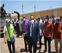 نائب محافظ المنيا يتابع سير العمل بمركزي مطاي والعدوة
