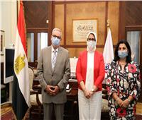 هالة زايد تهنئ ممثل منظمة الصحة العالمية الجديد وتشكر الممثل السابق