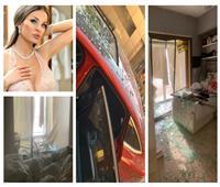 صور| تعرض منزلها للدمار.. نجاة دومينيك حوراني وأسرتها من انفجار بيروت