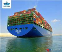 """سفينة الحاويات العملاقة """"HMM ROTTERDAM"""" تعبر قناة السويس في أولى رحلاتها البحرية"""