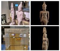 عودة تمثالين ملكيين إلي مصر لعرضهما بالمتحف المصري الكبير