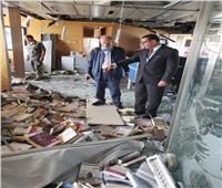السفير المصري يزور مبنى جريدة النهار بعد تعرضه للتدمير في انفجار بيروت