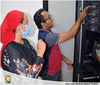 بالصور| نائب محافظ جنوب سيناء تتابع بدء التشغيل التجريبي للذاكرة المؤسسية