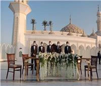 صور| أول عقد قران بساحة مسجد الشرطة في ظل كورونا