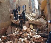 بالصور.. انهيار منزل من 4 طوابق بالمنصورةومصرع طالب جامعي