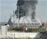 صور وفيديو| حريق ضخم في ميناء ساسكس البريطاني