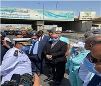محافظ القاهرة يتفقد موقع حريق الطريق الدائري