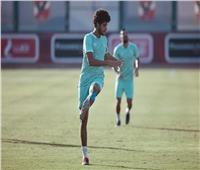 أحمد الشيخ ينتظم في مران الأهلي