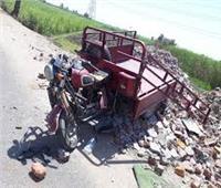 إصابة ٥ أشخاص في انقلاب تروسيكل بطريق غرب النوبارية