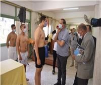 رئيس جامعة سوهاج يتابع اختبارات القدرات لطلاب الثانوية بكلية التربية الرياضية