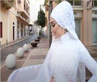 عروس لبنان: الانفجار طيرنى فى الهواء ولولا ثقل الفستان لأصبت إصابة شديدة