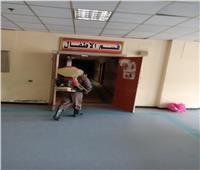 تطهير مستشفي الأحرار التعليمي بالزقازيق بعد تحقيق «صفر كورونا»