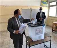 وزير المالية بدلي بصوته في انتخابات مجلس الشيوخ بـ6 أكتوبر