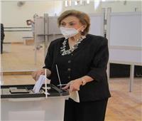 مرفت تلاوي تدلي بصوتها في انتخابات مجلس الشيوخ في لجنة التربية الرياضية بالزمالك