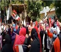 فيديو| زغاريد واحتفالات أمام لجان انتخابات الشيوخ بالجيزة